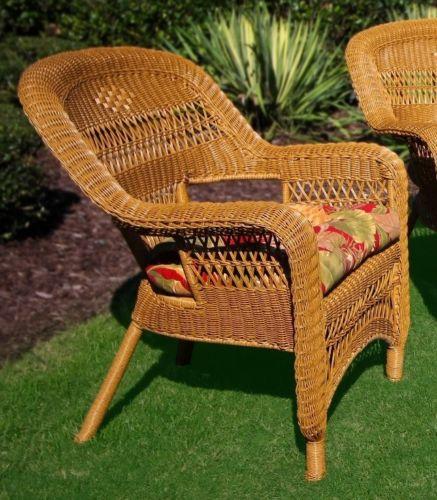#43 - 4 Piece Outdoor Patio Garden Furniture Coastal Southwest Amber Seating Set