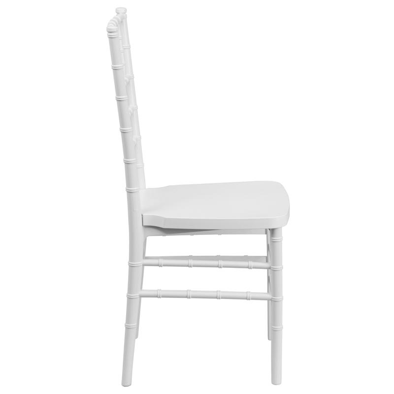 #5 - White Resin Stacking Chiavari Chair - FREE SEAT CUSHION