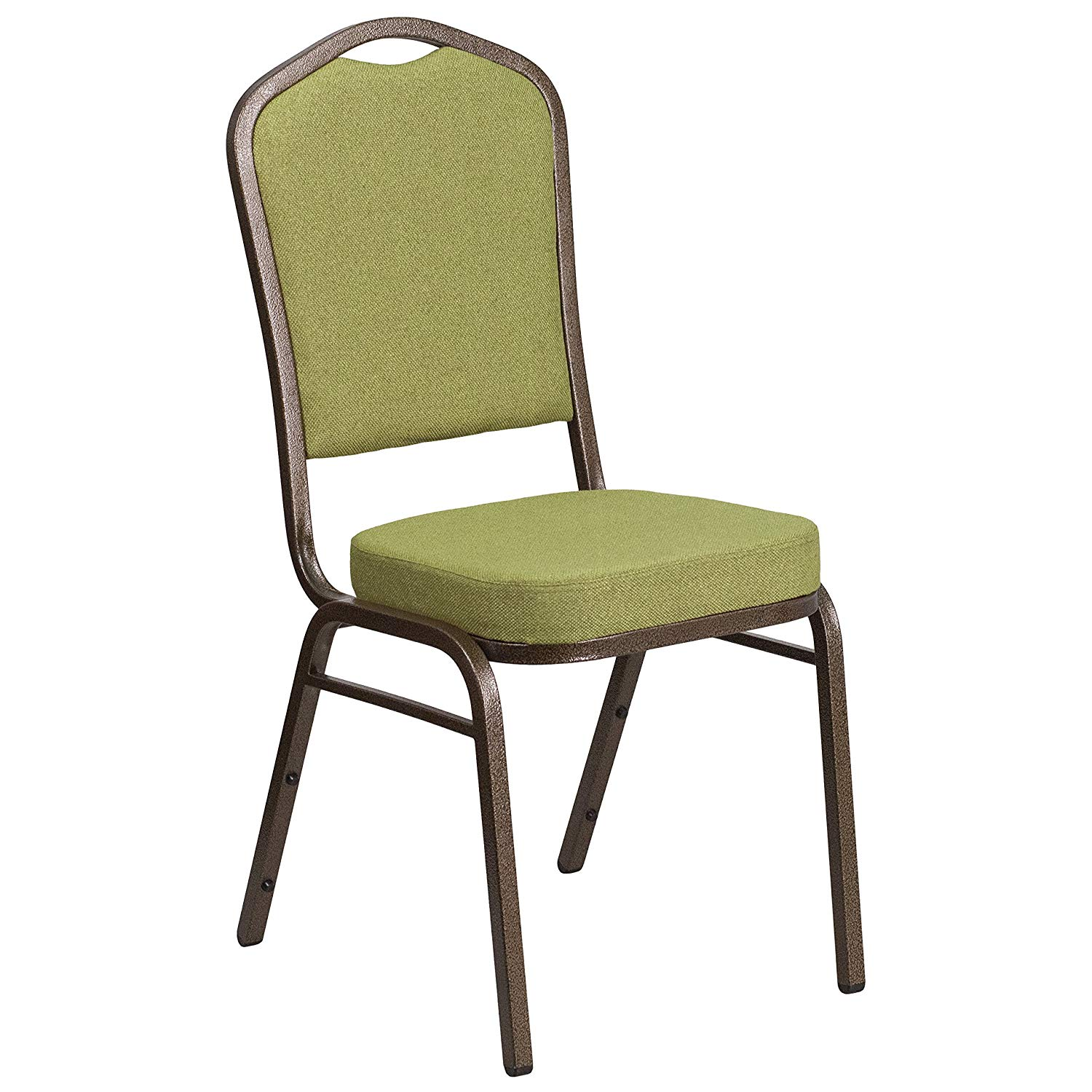 #45 - CROWN BACK BANQUET CHAIR WITH MOSS FABRIC