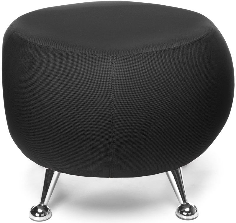 #177 - Contemporary Modern Office or Reception Lounge Stool in Black