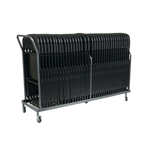 #42  - Vertical Storage Folding Chair Dolly - 32 Folded Chairs Stacking Dolly