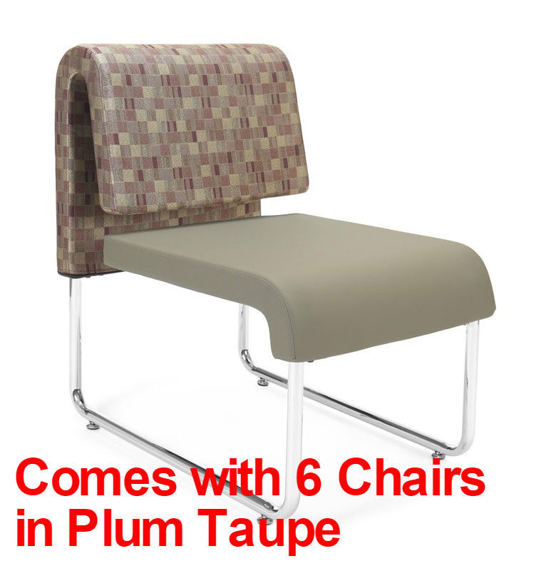 #57 - (9 PCS)UNO Series Lounge Package w/Plum Taupe Chairs & Windswept Bronze Tables