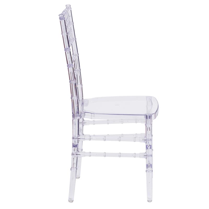 #11 - Crystal Clear Stacking Chiavari Chair - FREE SEAT CUSHION