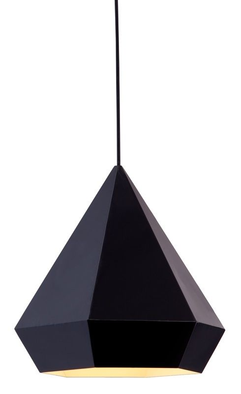 #97 - Stylish Geometric Elegance Ceiling Lamp in Black w/Sharp Angles - Home Decor