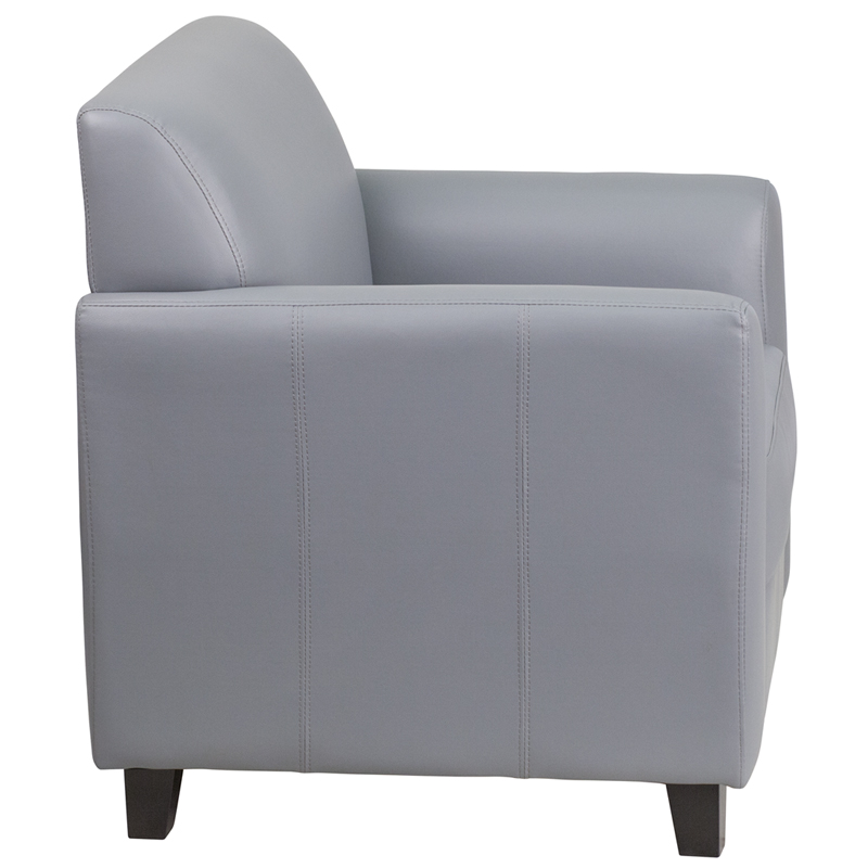 #7 - DIPLOMAT SERIES GRAY LEATHER CHAIR