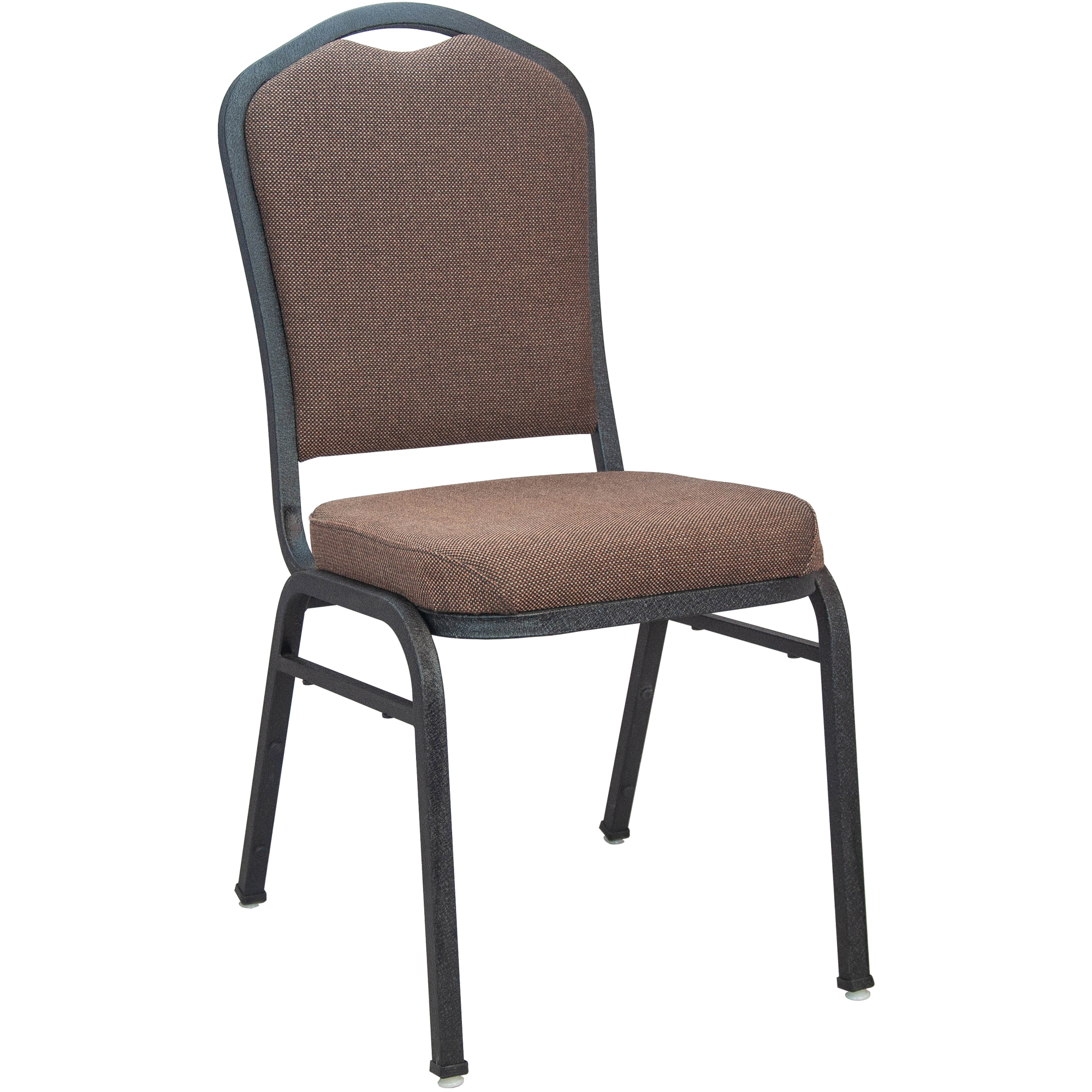 #54 -  Crown Back Banquet Chair with Java Fabric and Black Vein