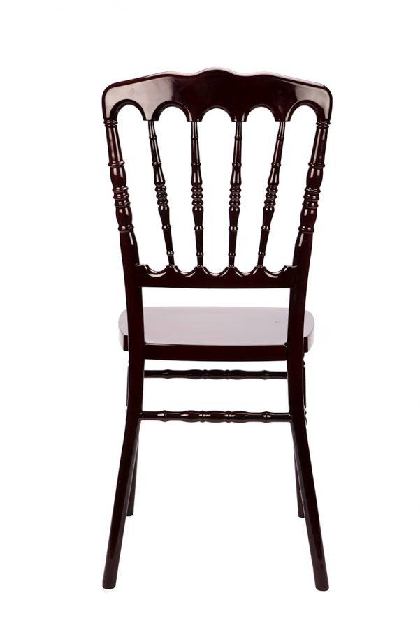#25 - Mahogany Resin Stacking Napoleon Chair - FREE SEAT CUSHION