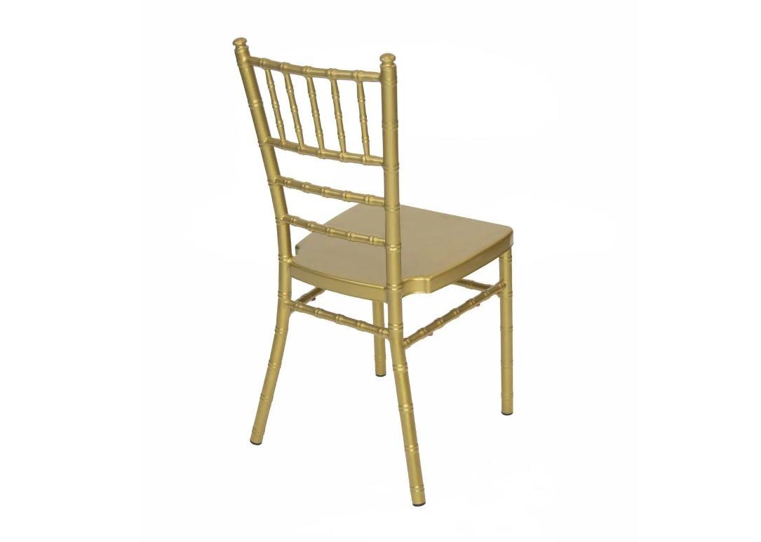 #3 - GOLD ALUMINUM CHIAVARI CHAIRS - FREE SEAT CUSHIONS