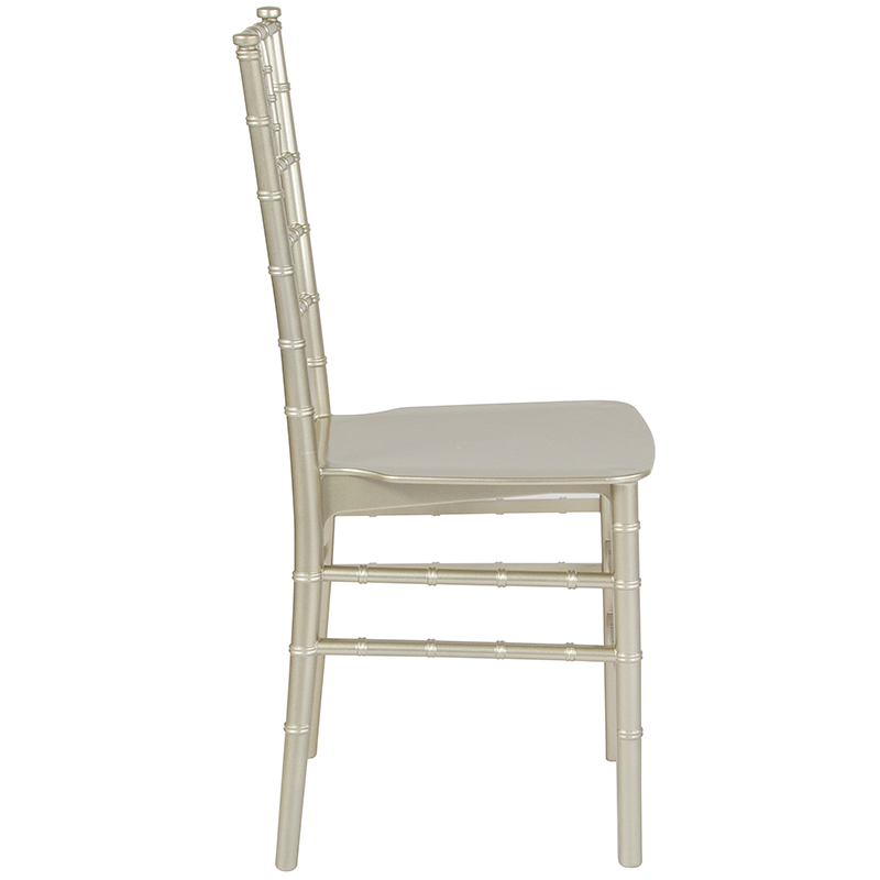 #23 - Champagne Resin Stacking Chiavari Chair With FREE SEAT CUSHION