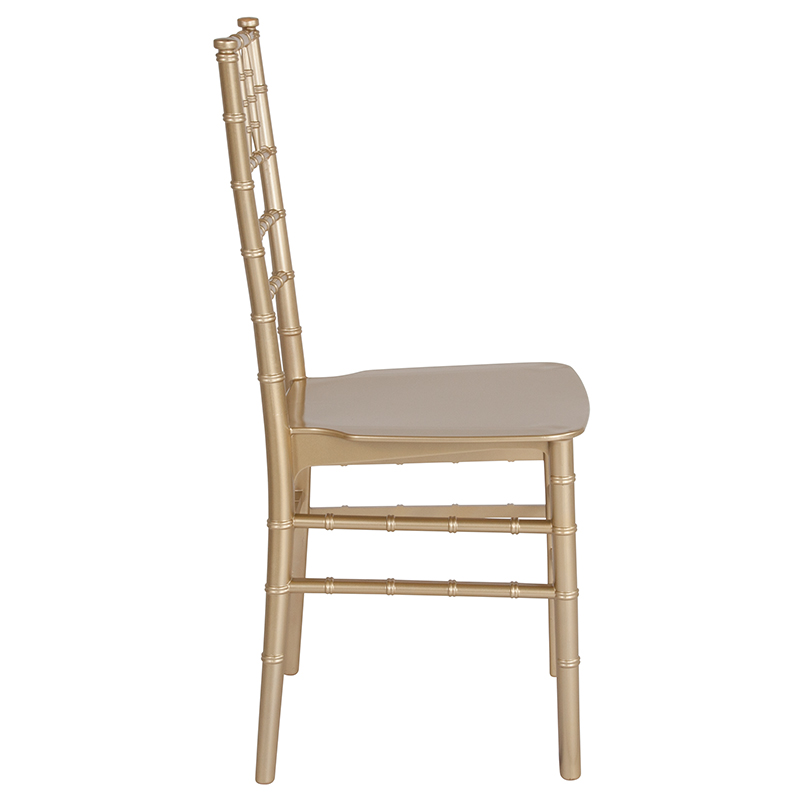 #18 - Gold Resin Stacking Chiavari Chair with FREE SEAT CUSHION