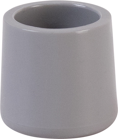 #46 - GRAY REPLACEMENT FOOT CAP FOR PLASTIC FOLDING CHAIRS