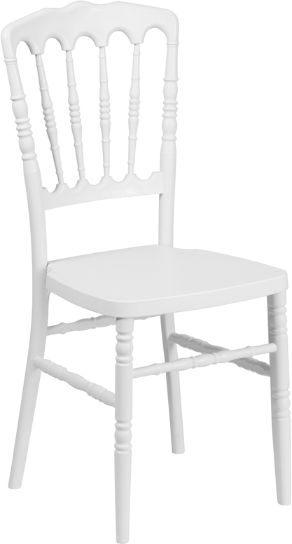 #13 - WHITE COLOR RESIN STACKING NAPOLEON CHAIR