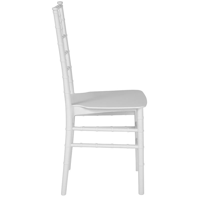 #21 - White Resin Stacking Chiavari Chair with FREE SEAT CUSHION