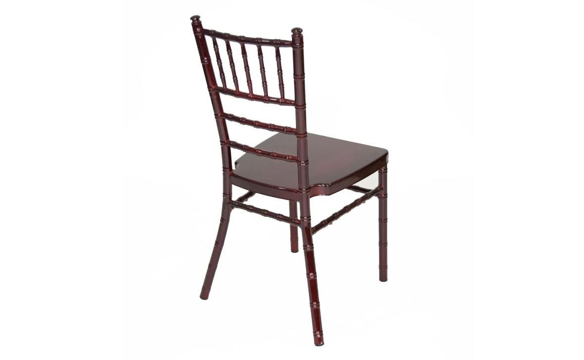 #2 - MAHOGANY ALUMINUM CHIAVARI CHAIRS - FREE SEAT CUSHIONS