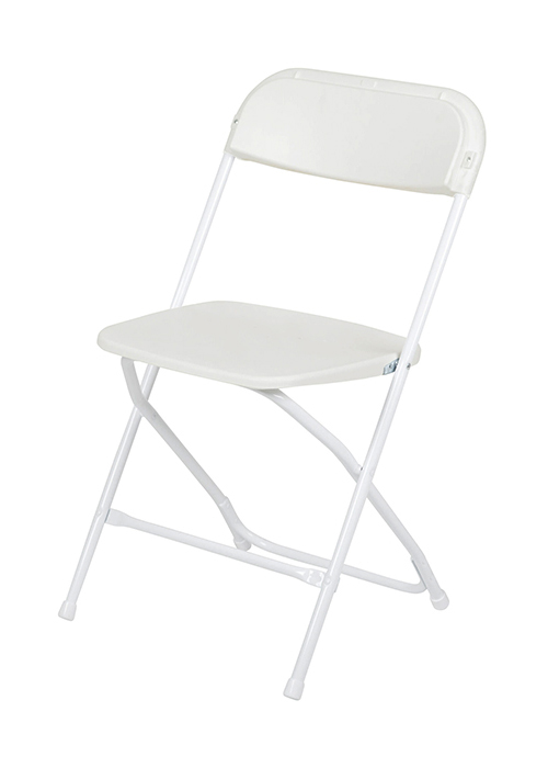 #16 - 300 LBS. PLASTIC FOLDING CHAIRS WHITE COLOR