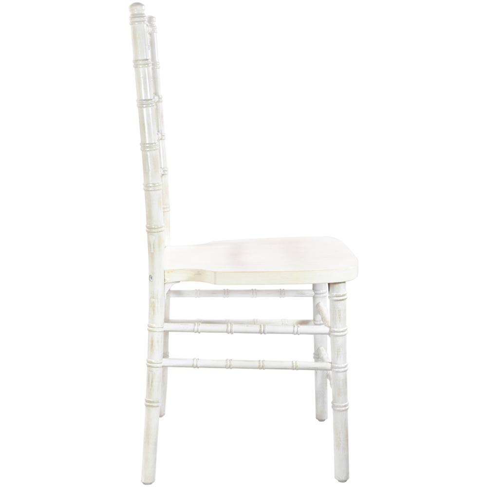 #11 - WHITE WASH WOOD CHIAVARI CHAIRS - FREE SEAT CUSHIONS