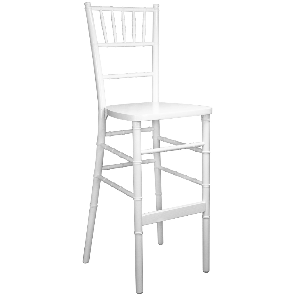 #58 - White Wood Chiavari Bar Stools