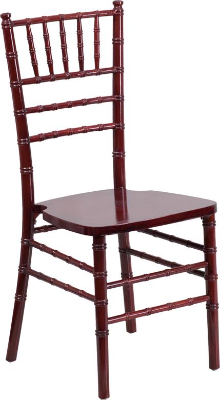 #5 - MAHOGANY WOOD CHIAVARI CHAIRS - FREE SEAT CUSHIONS