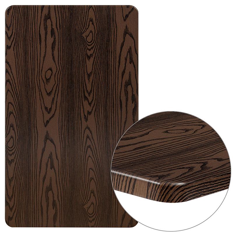 """#37 - 24"""" x 42"""" Rectangular Rustic Wood Laminate Table Top"""