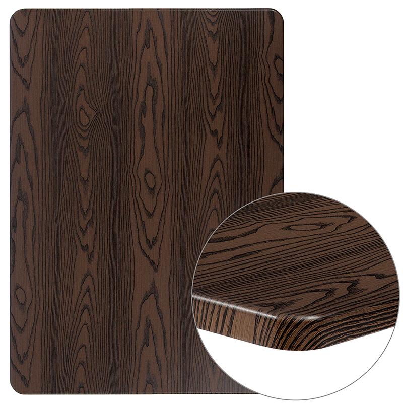 """#38 - 30"""" x 42"""" Rectangular Rustic Wood Laminate Table Top"""