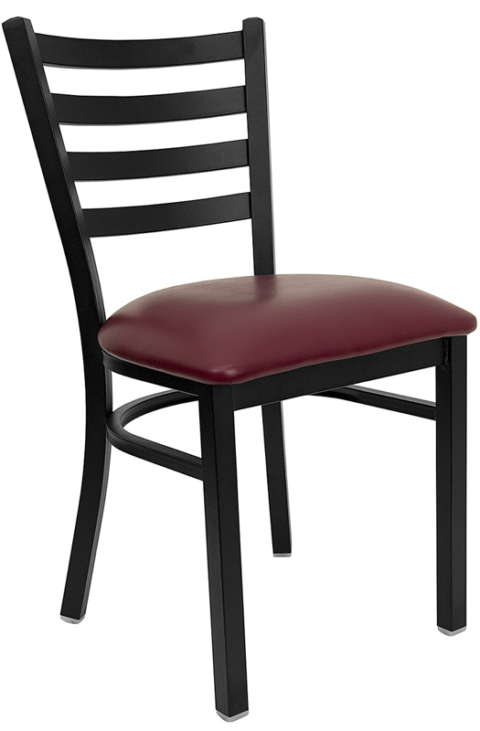 #119 - Burgundy Vinyl Seats for METAL Chairs and Barstools