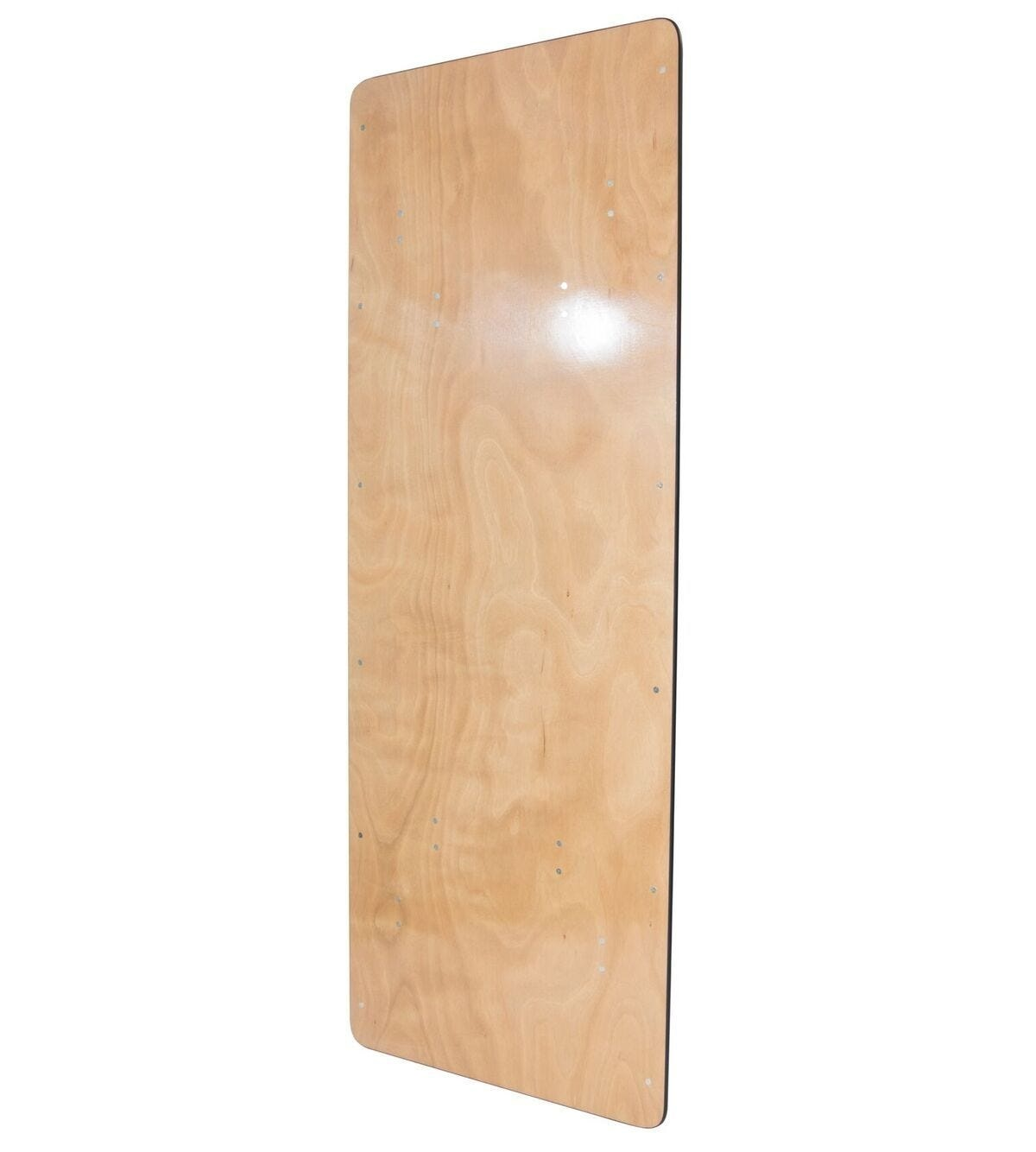 #72 - 48'' x 96'' Rectangular Wood Folding Banquet Table with Clear Coated Finished Top