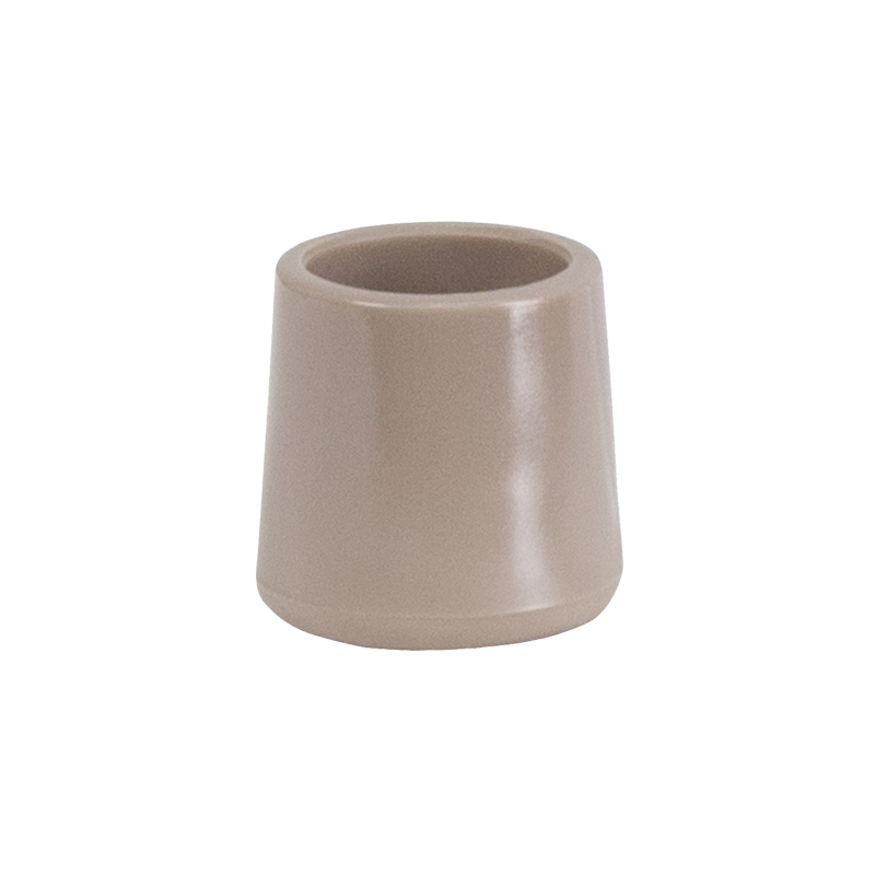 #34 - BEIGE REPLACEMENT FOOT CAP FOR PLASTIC FOLDING CHAIRS