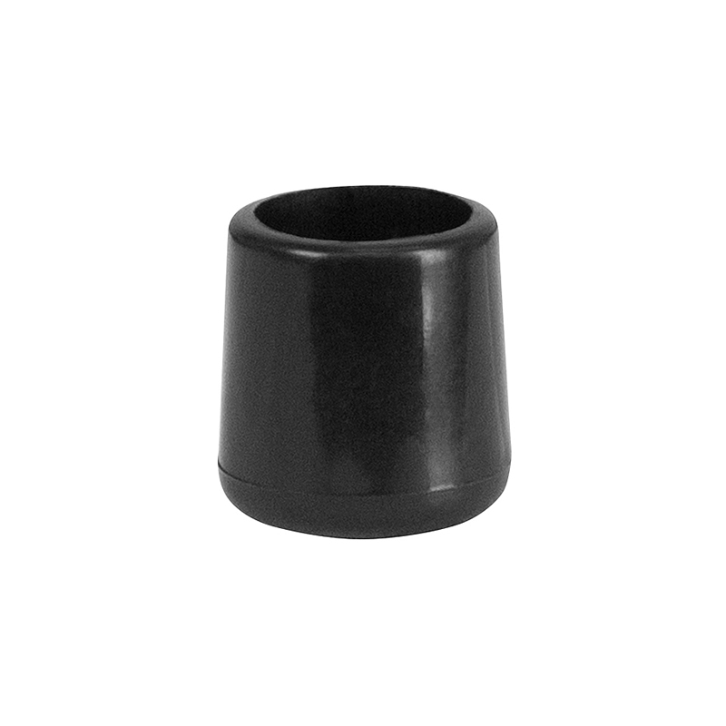 #33 - BLACK REPLACEMENT FOOT CAP FOR PLASTIC FOLDING CHAIRS