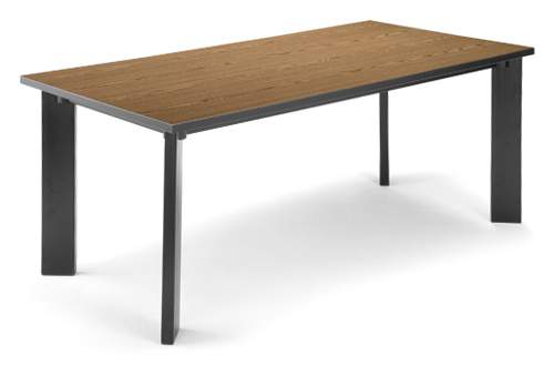 "#16 - 36"" X 72"" Library Conference Table High-Pressure Laminate Surface Gray Finish"