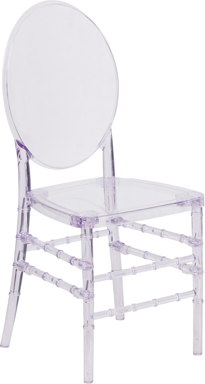 #12 - Crystal Clear Stacking Florence Chair with FREE SEAT CUSHIONS