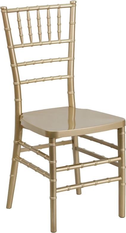 #2 - Gold Resin Stacking Chiavari Chair - FREE SEAT CUSHION