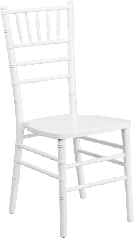 #9 - WHITE WOOD CHIAVARI CHAIRS - FREE SEAT CUSHIONS