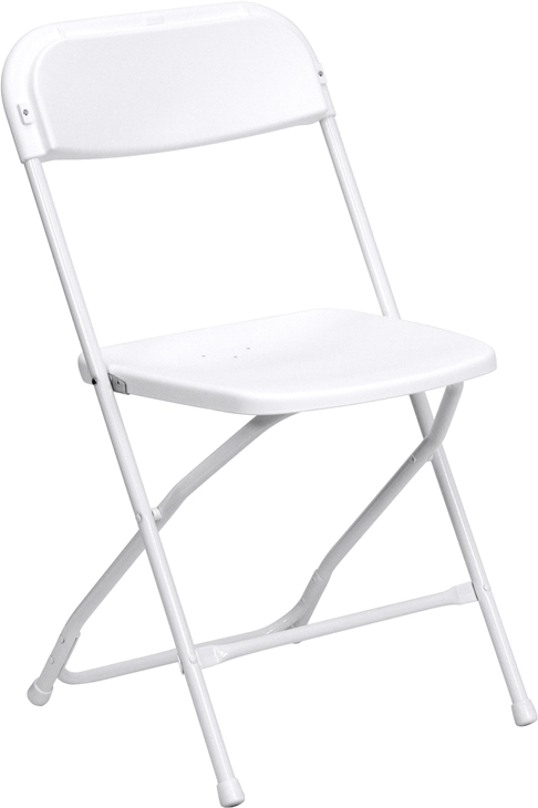 #16 - 225 LB. PLASTIC FOLDING CHAIRS WHITE COLOR
