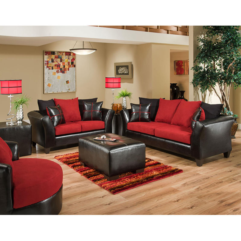 #9 - Contemporary Living Room Set in Chocolate Exterior & Microfiber Cushions (2 PCS)
