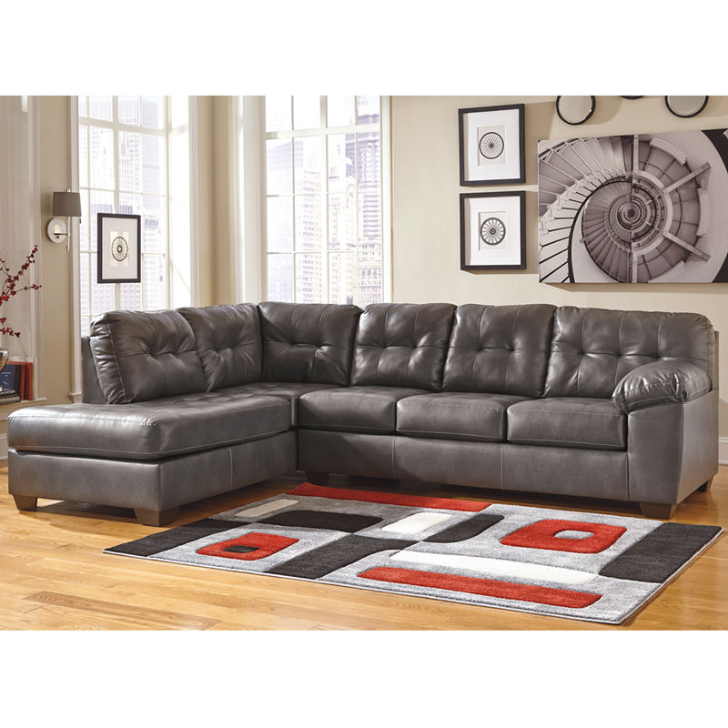 #14 - Ashley Alliston Sectional with Left Side Facing Chaise in Gray