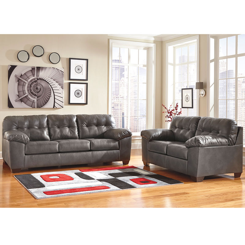 #15 - Signature Design by Ashley Alliston Living Room Set in Gray DuraBlend