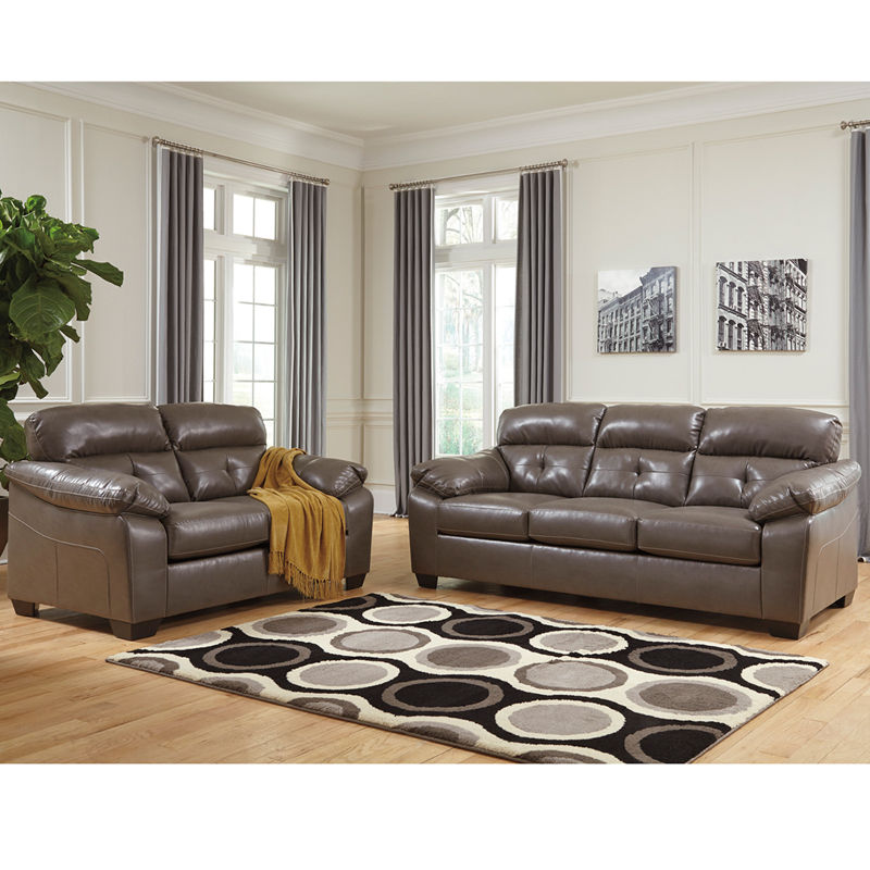 #16 - Benchcraft Bastrop Living Room Set in Steel DuraBlend