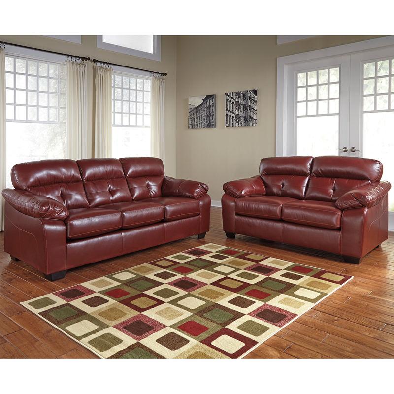#17 - Benchcraft Bastrop Living Room Set in Crimson DuraBlend