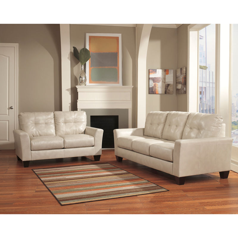 #18 - Benchcraft Paulie Living Room Set in Taupe DuraBlend