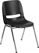 hercules-series-440-lb-capacity-black-ergonomic-shell-stack-chair-with-chrome-frame-and-12-seat-height-rut-12-bk-chr-gg-96