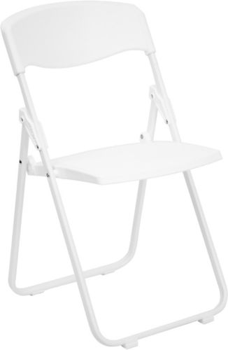 #39 - 880 lb. Capacity Heavy Duty White Plastic Folding Chair