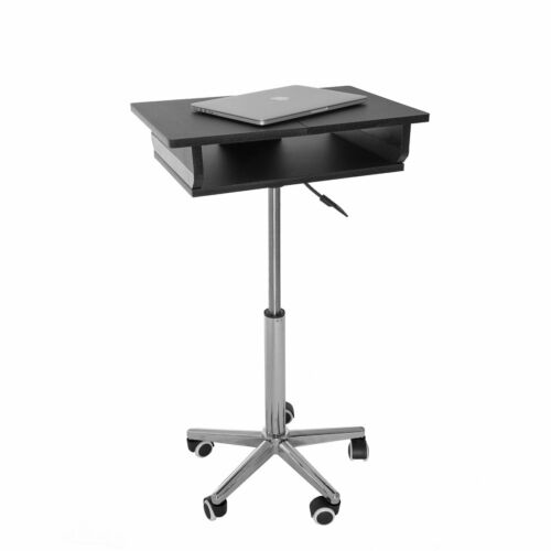 #38 - Mobile Adjustable Height Laptop Desk with Folding Panels and Wheel Casters