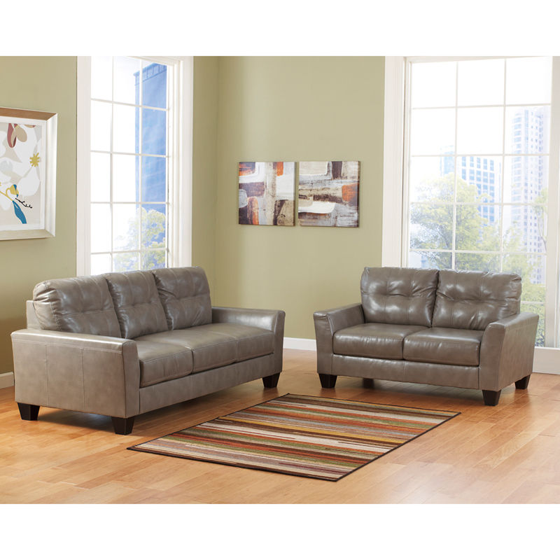 #19 - Benchcraft Paulie Living Room Set in Quarry DuraBlend