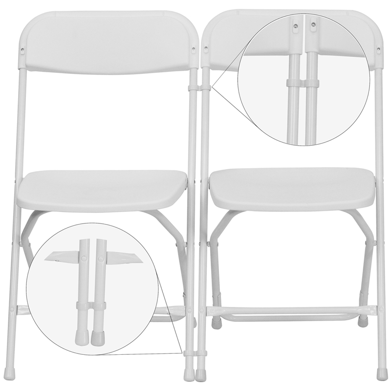 #36 - WHITE PLASTIC GANGING CLIPS - SET OF 2