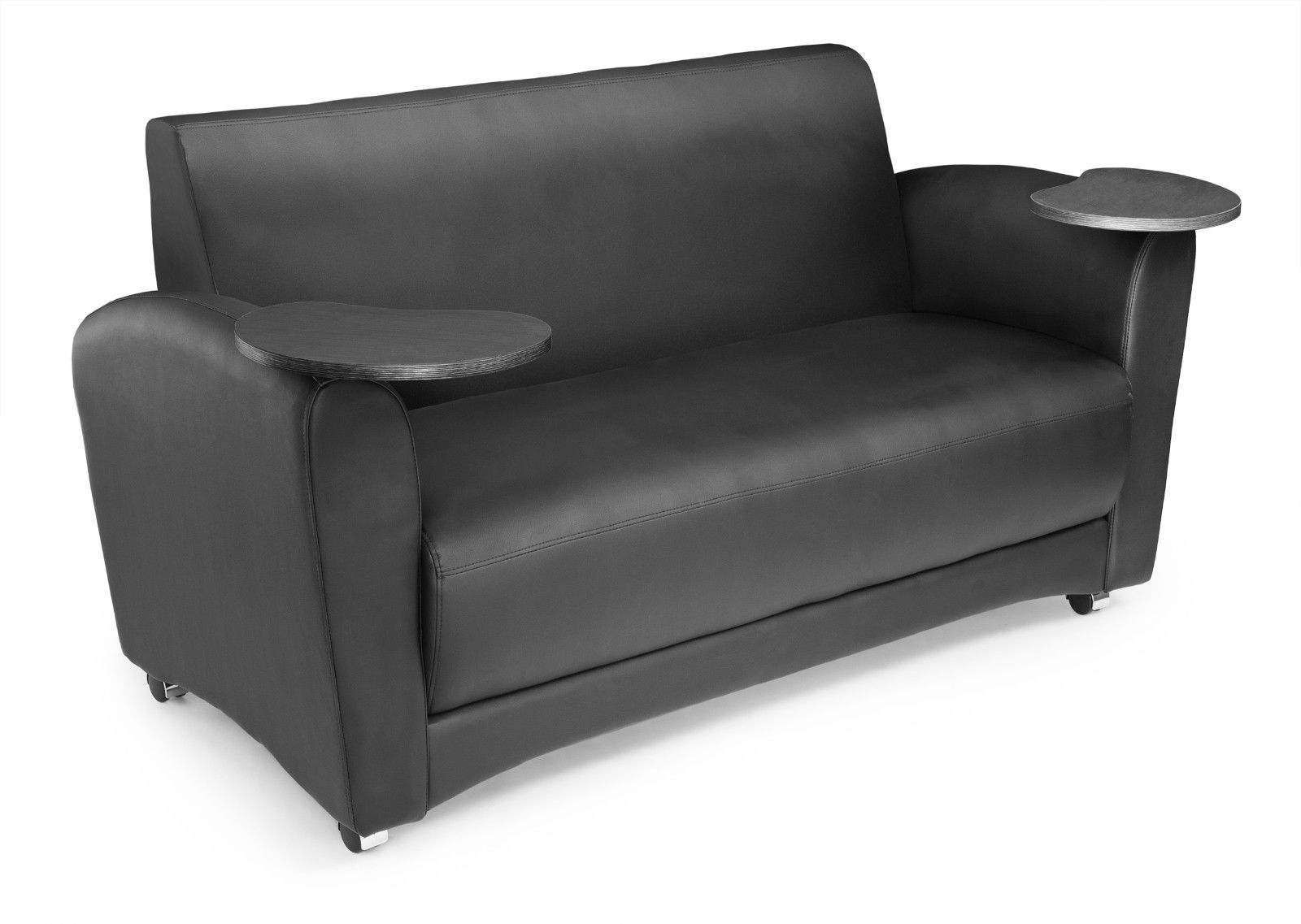 #34 - InterPlay Series Tablet Black and Tungsten Lounge Sofa
