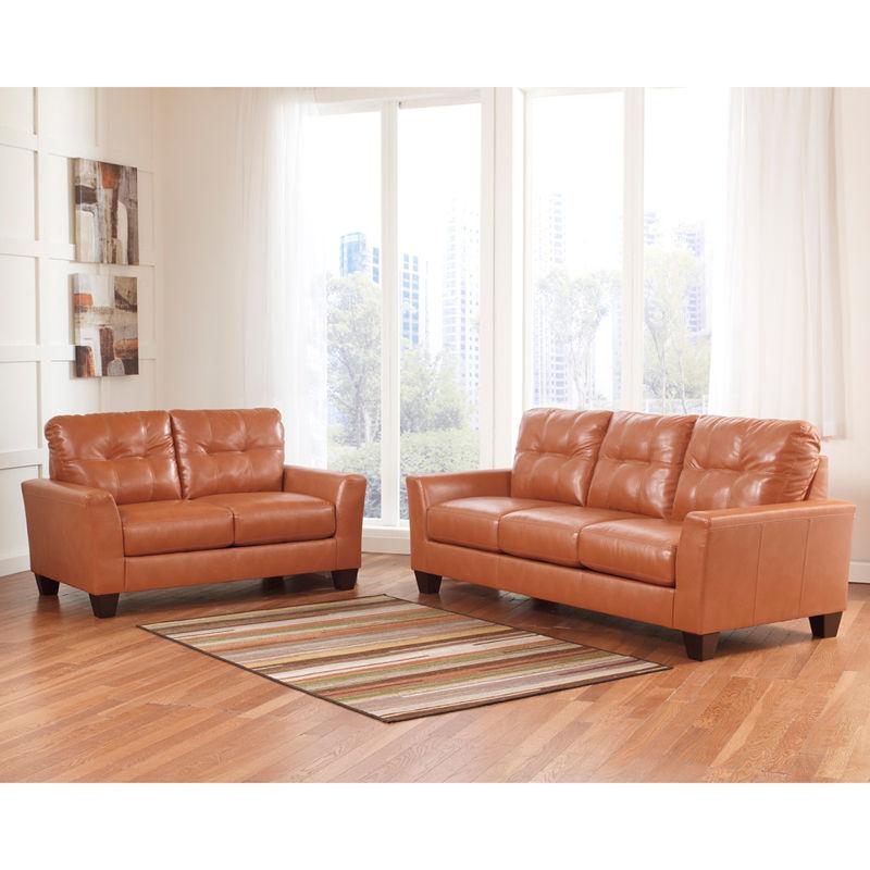 #20 - Benchcraft Paulie Living Room Set in Orange DuraBlend