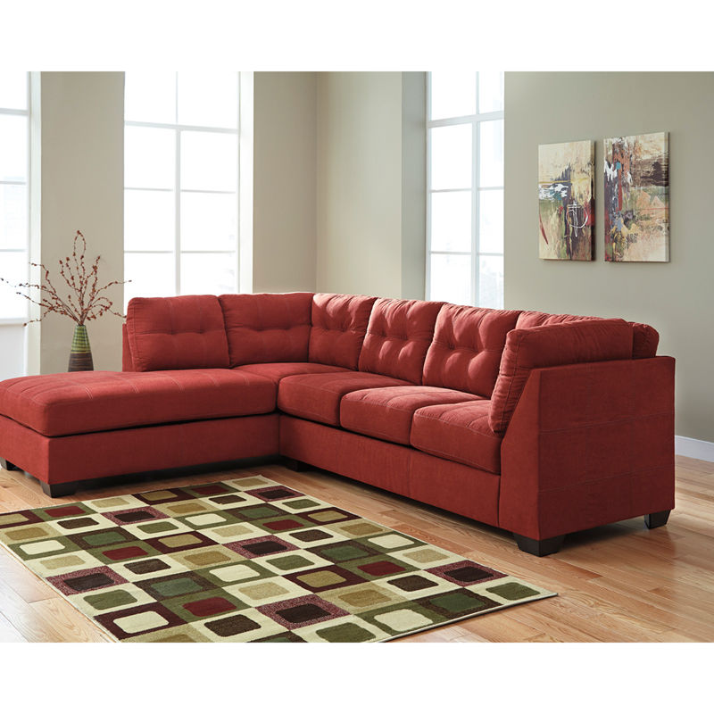 #24 - Benchcraft Maier Sectional with Left Side Facing Chaise in Walnut Microfiber