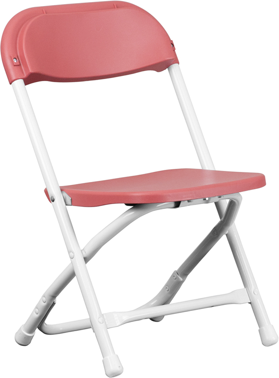 #45 - KIDS BURGUNDY PLASTIC FOLDING CHAIR