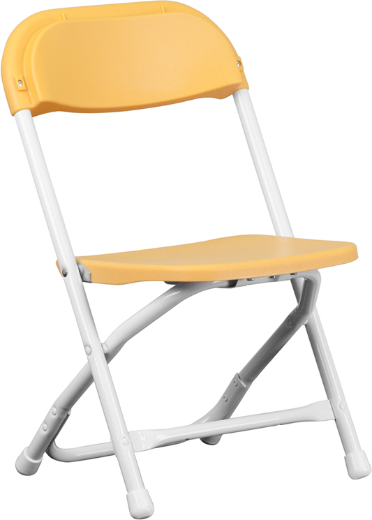 #32 - KIDS YELLOW PLASTIC FOLDING CHAIR